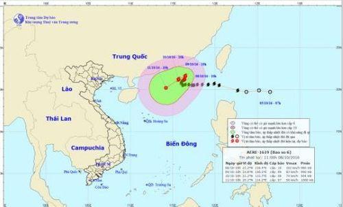 Tin bão số 6 mới nhất ngày 8/10: Bão đổi hướng, di chuyển chậm - Ảnh 1