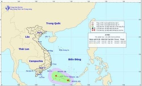 Tin áp thấp nhiệt đới trên biển Đông ngày 3/11 - Ảnh 1