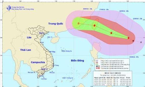 Tin mới nhất về cơn bão MEGI trên biển Đông - Ảnh 1