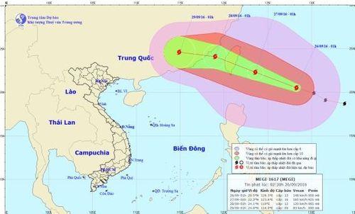 Tin bão MEGI mới nhất sáng 26/9: Gió giật trên cấp 14 - Ảnh 1