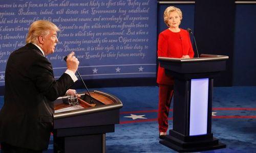 Hillary Clinton và Donald Trump bắt đầu tranh luận trực tiếp - Ảnh 2
