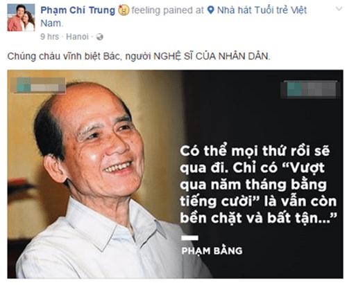 Nghệ sĩ Việt bàng hoàng trước sự ra đi của NSƯT Phạm Bằng - Ảnh 2