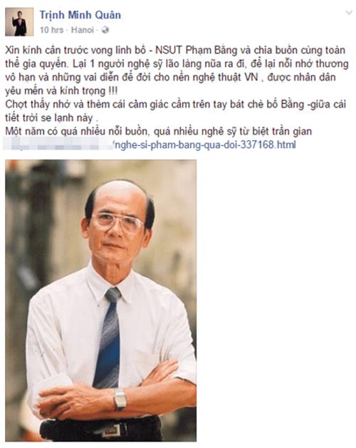 Nghệ sĩ Việt bàng hoàng trước sự ra đi của NSƯT Phạm Bằng - Ảnh 7