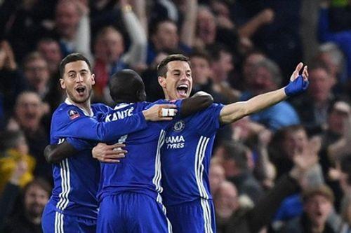 Đánh bại 10 cầu thủ M.U, Chelsea vào bán kết FA Cup - Ảnh 1