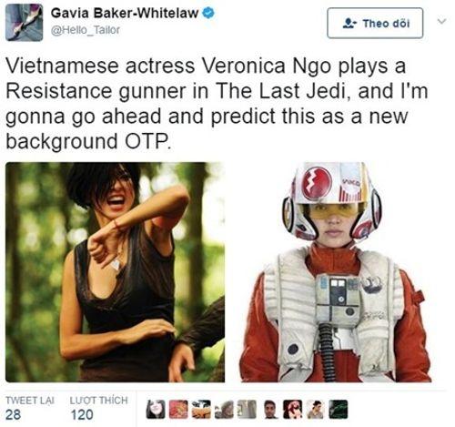 """Chính thức công bố nhân vật của Ngô Thanh Vân trong """"bom tấn"""" Hollywood """"Star Wars: The Last Jedi"""" - Ảnh 1"""