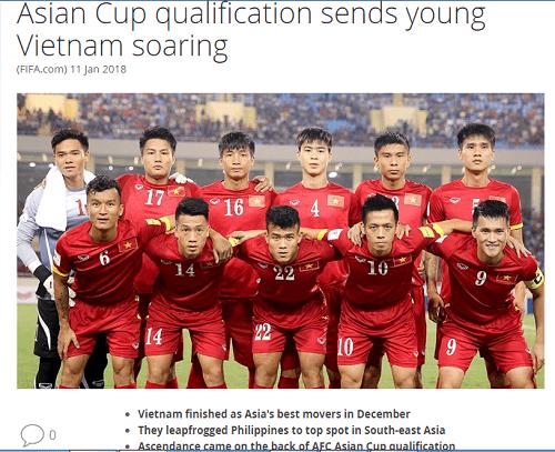 """FIFA nói gì về """"cú nhảy"""" 13 bậc của bóng đá Việt Nam? - Ảnh 1"""