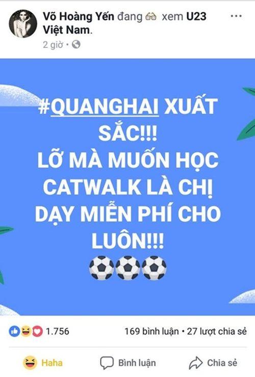 """U23 Việt Nam chiến thắng: Mr Đàm """"đi bão"""", Tóc Tiên muốn hôn Tiến Dũng - Ảnh 8"""