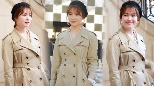 """Song Joong Ki - Song Hye Kyo """"nàng sến chàng sang"""" dự event ở Paris - Ảnh 5"""