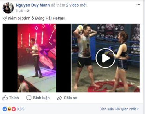Clip: Nam thanh niên nhảy lên sân khấu đấm vào mặt Duy Mạnh và cái kết - Ảnh 1