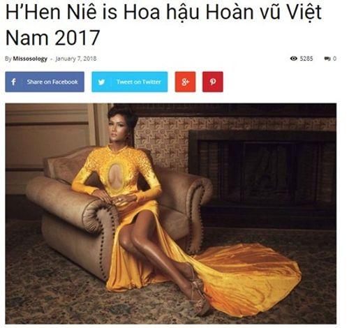Chuyên trang sắc đẹp nổi tiếng thế giới viết về Hoa hậu H'Hen Niê - Ảnh 2