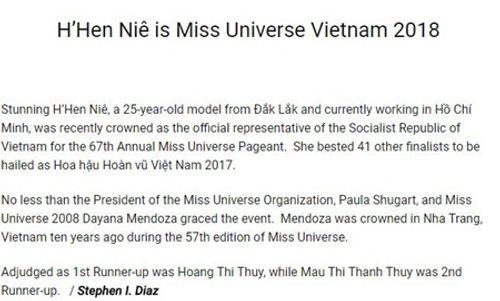 Chuyên trang sắc đẹp nổi tiếng thế giới viết về Hoa hậu H'Hen Niê - Ảnh 3