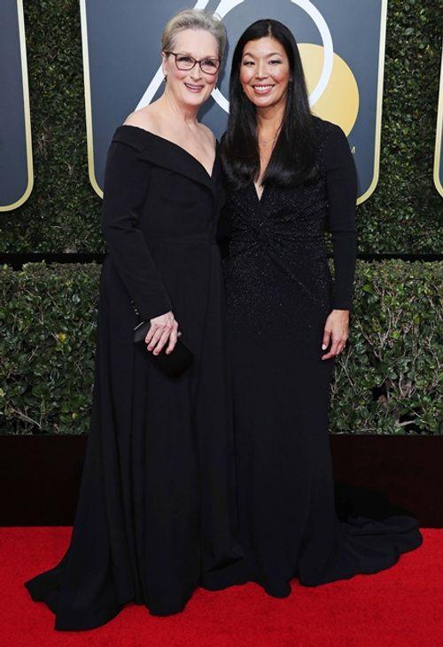 Quả Cầu Vàng 2018: Dàn sao Hollywood đồng loạt diện đồ đen trên thảm đỏ - Ảnh 2