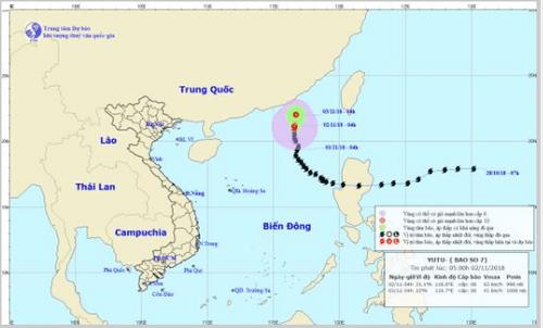 Dự báo thời tiết ngày 2/11: Bão Yutu suy yếu, miền Bắc đón không khí lạnh - Ảnh 1