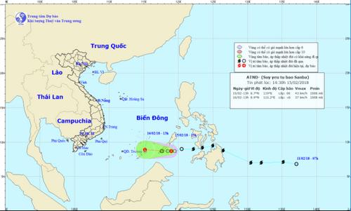 Áp thấp nhiệt đới suy yếu từ bão Sanba: Mưa nhỏ rải rác, trời ấm dần - Ảnh 1