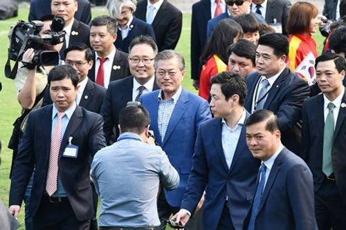 Tổng thống Hàn Quốc giao lưu với U23 Việt Nam - Ảnh 1