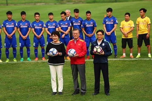 Tổng thống Hàn Quốc giao lưu với U23 Việt Nam - Ảnh 5