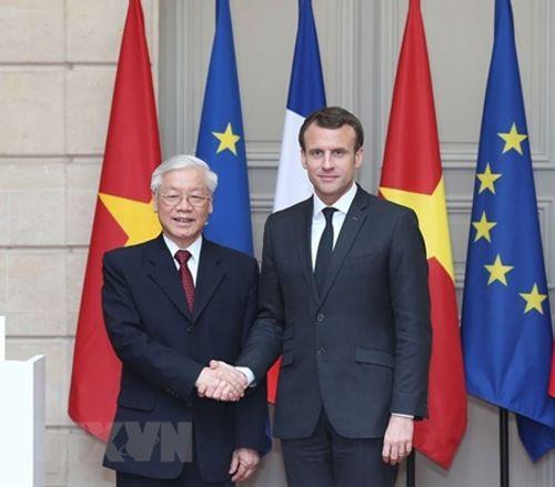 Tuyên bố chung về tăng cường quan hệ đối tác chiến lược Việt Nam-Pháp - Ảnh 1