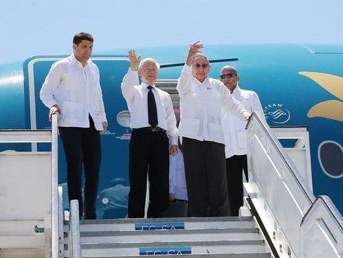 Chủ tịch Cuba và Tổng Bí thư Nguyễn Phú Trọng thăm Santiago De Cuba - Ảnh 1