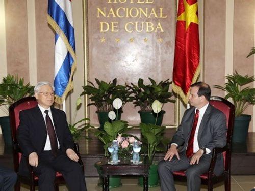 Chủ tịch Cuba và Tổng Bí thư Nguyễn Phú Trọng thăm Santiago De Cuba - Ảnh 2