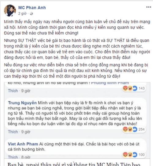 MC Minh Tiệp bị tố bạo hành em vợ: Sao Việt lên tiếng - Ảnh 2