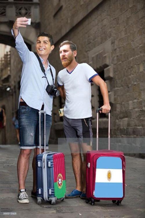 Ngập tràn ảnh chế Ronaldo - Messi cùng bị loại khỏi World Cup 2018 - Ảnh 5