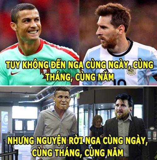 Ngập tràn ảnh chế Ronaldo - Messi cùng bị loại khỏi World Cup 2018 - Ảnh 4
