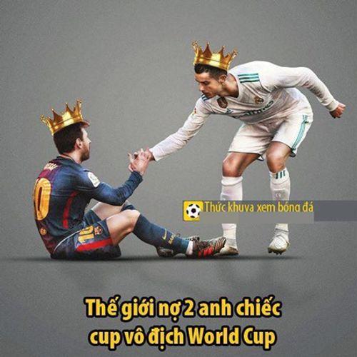 Ngập tràn ảnh chế Ronaldo - Messi cùng bị loại khỏi World Cup 2018 - Ảnh 6