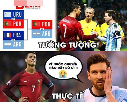 Ngập tràn ảnh chế Ronaldo - Messi cùng bị loại khỏi World Cup 2018 - Ảnh 1