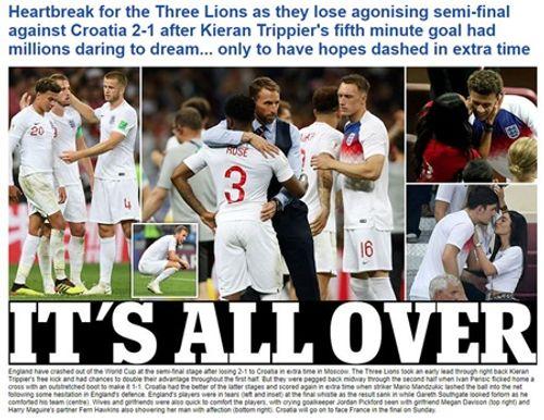 Truyền thông Anh nói gì về thất bại của đội nhà trước Croatia tại bán kết World Cup 2018? - Ảnh 2