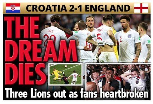 Truyền thông Anh nói gì về thất bại của đội nhà trước Croatia tại bán kết World Cup 2018? - Ảnh 4