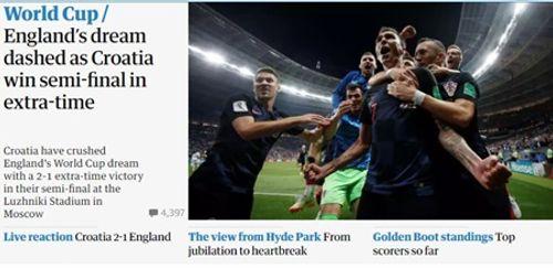 Truyền thông Anh nói gì về thất bại của đội nhà trước Croatia tại bán kết World Cup 2018? - Ảnh 8