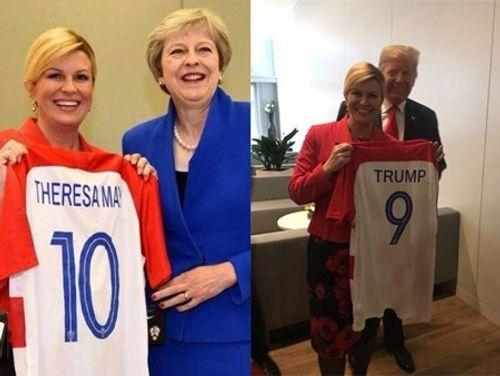 Lọt vào chung kết World Cup, Tổng thống, Bộ trưởng Croatia mặc áo đội tuyển đi họp - Ảnh 2