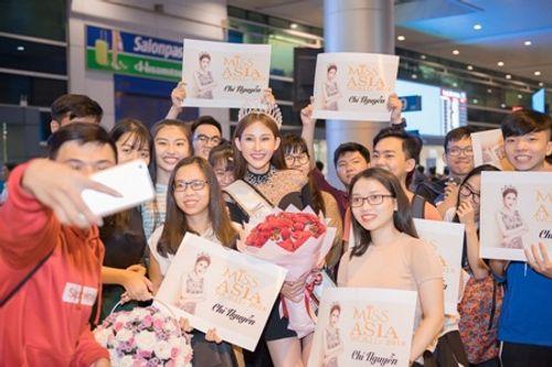 Hoa hậu Chi Nguyễn về nước sau khi đăng quang Miss Asia World 2018 - Ảnh 5