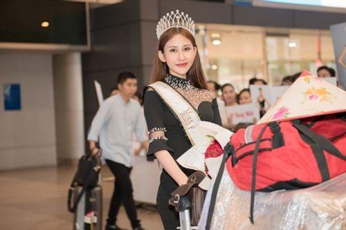 Hoa hậu Chi Nguyễn về nước sau khi đăng quang Miss Asia World 2018 - Ảnh 1