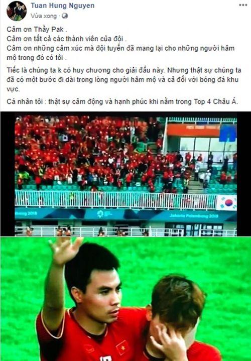 """Sao Việt động viên Olympic Việt Nam: """"Không khóc, các chàng trai!"""" - Ảnh 2"""