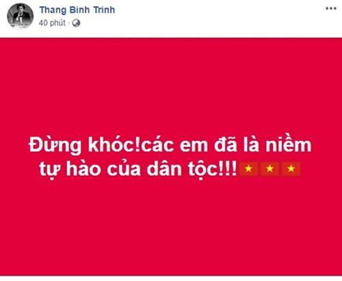 """Sao Việt động viên Olympic Việt Nam: """"Không khóc, các chàng trai!"""" - Ảnh 7"""