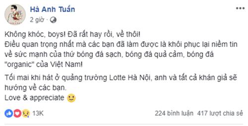 """Sao Việt động viên Olympic Việt Nam: """"Không khóc, các chàng trai!"""" - Ảnh 3"""