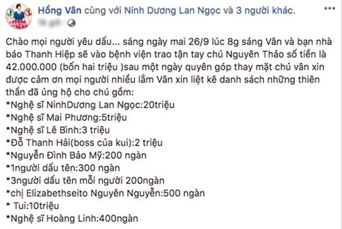 Lê Bình và Mai Phương chung tay giúp đỡ đồng nghiệp bị ung thư - Ảnh 1