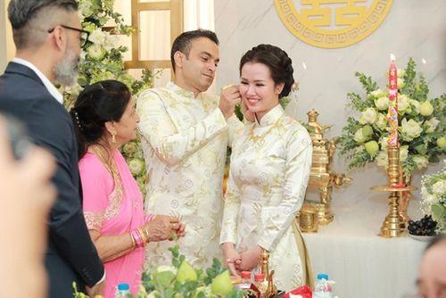 Võ Hạ Trâm xinh đẹp rạng ngời trong hôn lễ với doanh nhân Ấn Độ - Ảnh 5