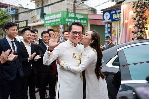 """NSND Trung Hiếu """"cười tít mắt"""" cạnh cô dâu kém 19 tuổi trong đám cưới - Ảnh 2"""
