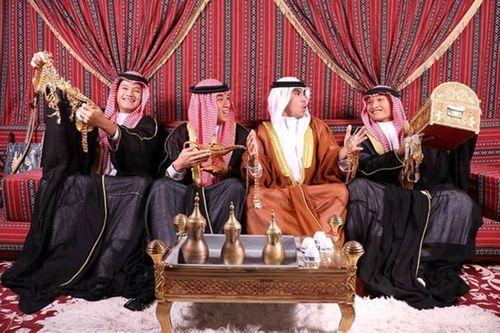 """""""Hoàng tử Ả Rập"""" Đức Huy mừng sinh nhật theo phong cách quý tộc khiến fan thích thú - Ảnh 2"""