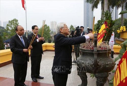 Lãnh đạo Đảng, Nhà nước viếng Lăng Chủ tịch Hồ Chí Minh - Ảnh 4