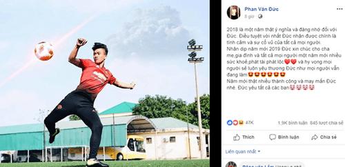 """Dàn tuyển thủ Việt Nam chúc mừng năm mới: Fan phát hiện Đoàn Văn Hậu """"3 năm như 1"""" - Ảnh 4"""