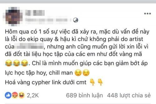 Rapper Việt gây phẫn nộ khi tự ý đốt sách vở học sinh khi đến trường quay MV - Ảnh 2