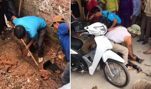 Đào cống giải cứu thanh niên kẹt trong cống thoát nước gần 1 ngày - Ảnh 1