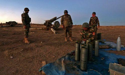 Pháo kích dồn dập mở đường tấn công Mosul - Ảnh 1