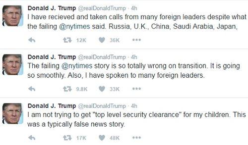 """Ông Trump dùng mạng xã hội """"đấu khẩu"""" báo chí - Ảnh 1"""