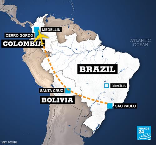 Vụ rơi máy bay ở Colombia: Phát hiện 2 hộp đen - Ảnh 1