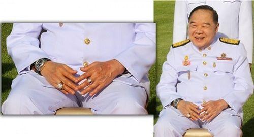 """Dùng tay che nắng, phó thủ tướng Thái Lan """"để lộ"""" đồng hồ đắt tiền - Ảnh 1"""