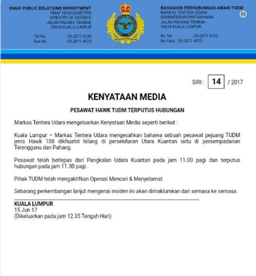 Tiêm kích Malaysia biến mất khỏi màn hình radar, phát hiện thi thể phi công - Ảnh 3